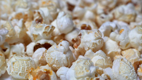 Rotating Popcorn With Caramel Footage
