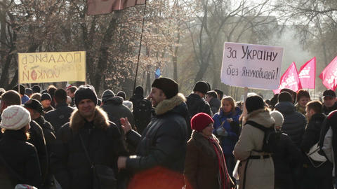 Protest action in Dnepropetrovsk Footage
