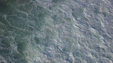 Stormy surf top view at sunny day Footage