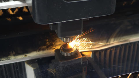 Laser cutting technology of flat sheet metal steel material processing Live Action