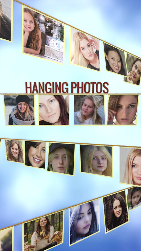 Hanging Photos_Vertical Plantilla de Apple Motion