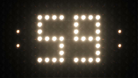 Countdown 4K Flashing Lights Board CG動画素材