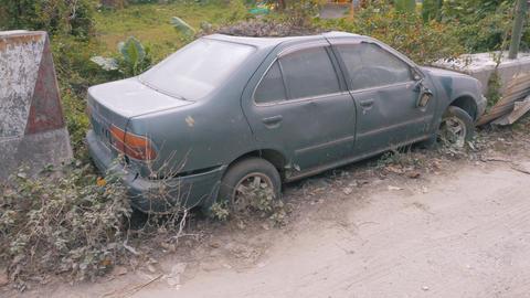 Apocalyptic Abandoned Car 11 Footage