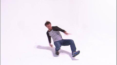 Male break dancer dancing Live Action