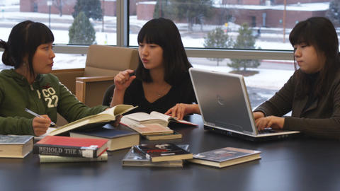 International students studying Live Action