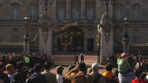 Clip of the Buckingham Palace changing of the guards Footage