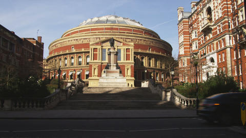 Far shot of Royal Albert Hall in London Footage