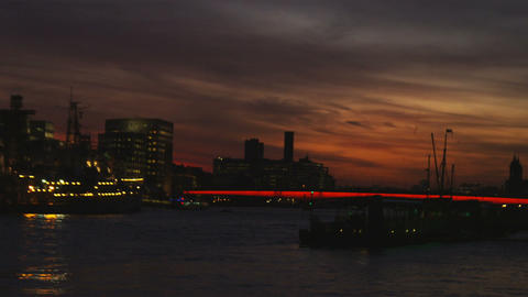 London cityscape just after sunset Footage