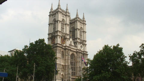 Top of Westminster Abbey in England Live Action