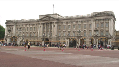 Buckingham Palace in London England Live Action
