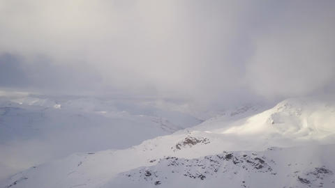 Breathtaking winter landscape of snowcapped mountains... Stock Video Footage