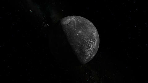 Camera flies around Mercury. Elements of this image... Stock Video Footage