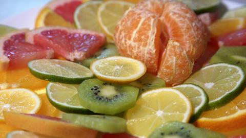 Assortment of Fresh Citrus Fruits Stock Video Footage