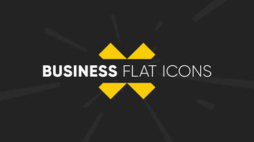 Business Flat Icons Motion Graphics Template