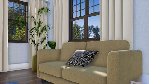 Close-up of sofa in modern living room interior 3D animation Footage