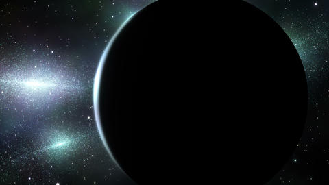 Image of the universe and the planet Stock Video Footage