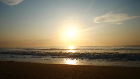 Landscape of the sunrise at the beach. The beauty of a tropical beach Footage