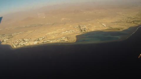 Sharm El Sheikh from plane Footage