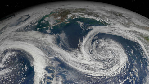 Hurricane storm seen from satellite. Elements of this…, Banco de Videos Animados