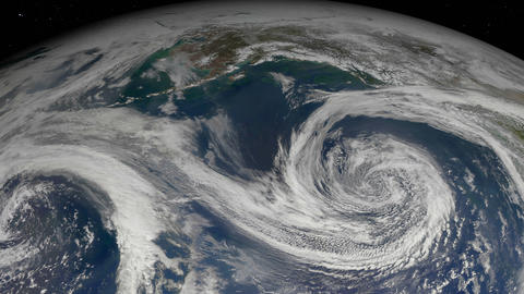 Hurricane storm seen from satellite. Elements of this image furnished by NASA Videos animados