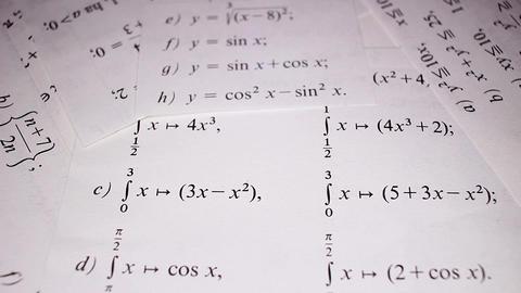 Sinus cosinus math mathematical exercise examples intergration example integrals Footage