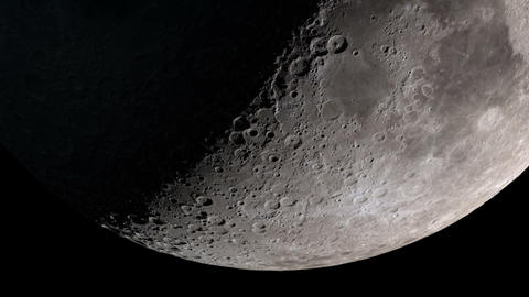 Close up of the Moon. Seamless animation of moon phases... Stock Video Footage
