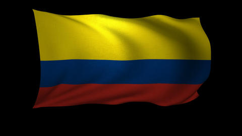 3D Rendering of the flag of Colombia waving in the wind Footage