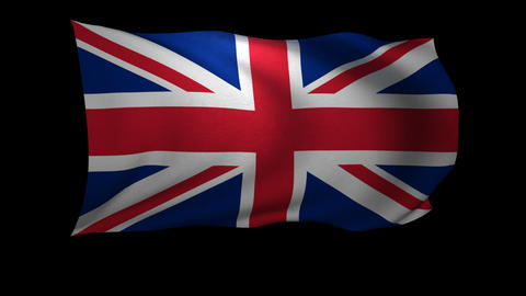 3D Rendering of the flag of the United Kingdom waving in the wind Live Action