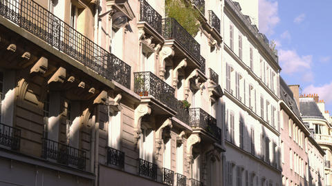 French architecture seen from the street Footage