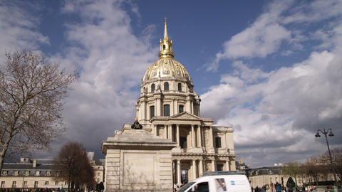 Street view of the Dome des Invalides Footage