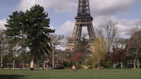 Eiffel Tower with trees in the foreground Live Action