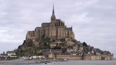 Mont Saint Michel seen from across the bay Footage