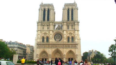 Notre Dame Cathedral in Paris Live Action