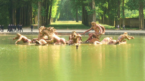 Royalty Free Stock Footage of Pond with statues in Versailles, France Live Action