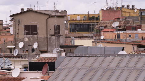 Cityscape of Rome Italy showing its rooftops Footage