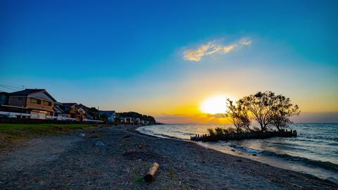 Sunset timelapse at Biwako lake in Shiga