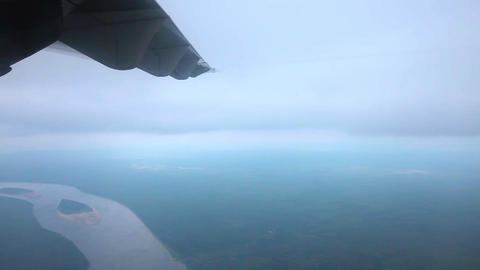 View of the earth from the airplane 003 Footage