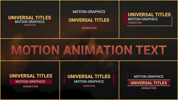 Moving Animation Text Motion Graphics Template