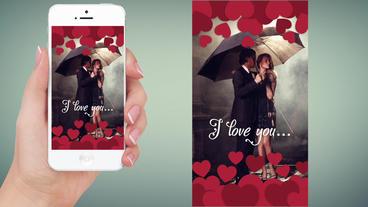 Instagram Stories 4 - brush fast romantic slideshow Apple Motionテンプレート