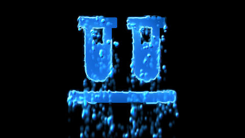 Liquid symbol vials appears with water droplets. Then dissolves with drops of Animation