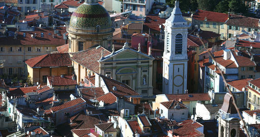 Cathedral Sainte-Reparade In The Old Town Of Nice France Footage