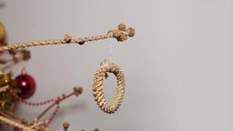 Cutting twig with round ornament ビデオ