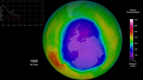 Animation of the ozone concentration in the south pole. Elements of this image Animation