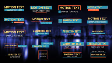 Animation Titles Pack After Effects Template