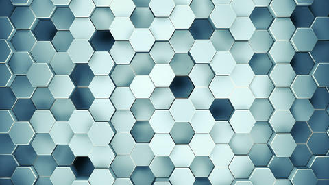 Abstract Geometric Surface Of A Hexagon. The camera flies over unusual hexagonal Animation
