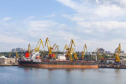 Sea port of Odessa, Black Sea, Ukraine Photo