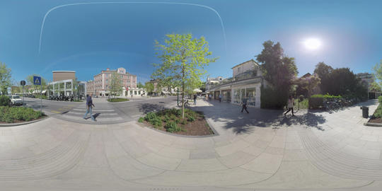 360 VR Quiet street on Lido island in Italy Footage