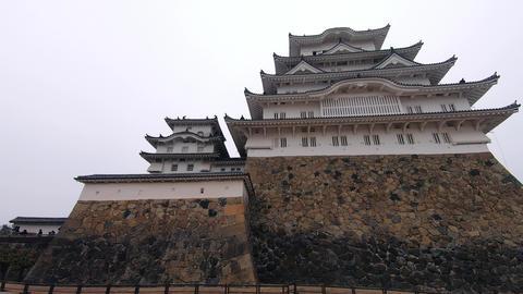 Hyperlapse of Himeji Castle Footage
