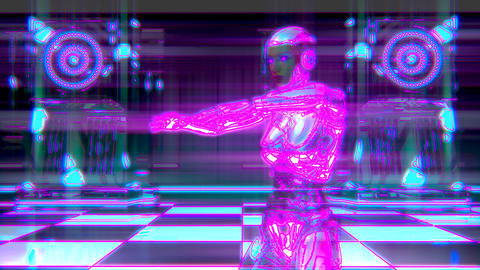 Dancing Female Robot Cyberclub Animation 1 Animation