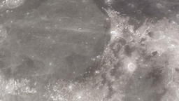 Camera flies around a craters in the Moon in Apollo 17 landing site. Elements of Animation